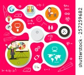 circle vector infographics and... | Shutterstock .eps vector #257259682