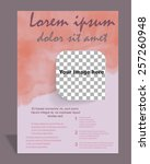 vector  brochure or magazine... | Shutterstock .eps vector #257260948