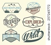 set of vintage labels mountain... | Shutterstock .eps vector #257265772