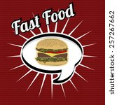 fast food design over red ... | Shutterstock .eps vector #257267662