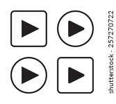 set of play button icons | Shutterstock . vector #257270722