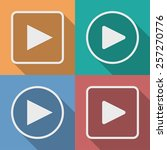 set of play button icons with a ... | Shutterstock . vector #257270776