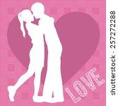 love design over pink vector...   Shutterstock .eps vector #257272288