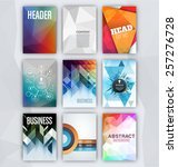 flyer sets   abstract... | Shutterstock .eps vector #257276728