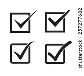 set of check mark  check box... | Shutterstock . vector #257277682