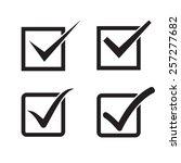 set of check mark  check box...   Shutterstock . vector #257277682