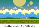 background concept for a mobile ... | Shutterstock .eps vector #257282545