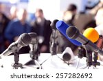 news conference | Shutterstock . vector #257282692