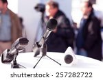 news conference | Shutterstock . vector #257282722