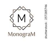 arabic monochrome vector... | Shutterstock .eps vector #257285746