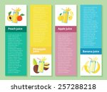 fruit smoothie collection. menu ... | Shutterstock .eps vector #257288218