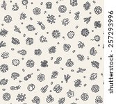 light seamless pattern with... | Shutterstock .eps vector #257293996