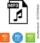 document with mp3 label and... | Shutterstock .eps vector #257294662