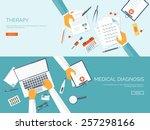 medical flat vector background...   Shutterstock .eps vector #257298166