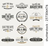 typographic save the date... | Shutterstock .eps vector #257306476