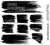 grunge marker stains | Shutterstock .eps vector #257319742