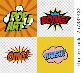 abstract pop art objects on a...   Shutterstock .eps vector #257332432