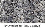 seamless snake python textile... | Shutterstock .eps vector #257332825