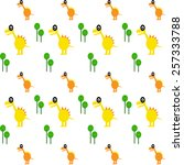 cute dinosaur pattern  for baby ... | Shutterstock .eps vector #257333788