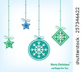 merry christmas and happy new... | Shutterstock .eps vector #257346622
