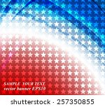 abstract image of the american... | Shutterstock .eps vector #257350855
