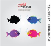 fish vector.fish silhouette.... | Shutterstock .eps vector #257357452