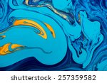 abstract mixed paint background.... | Shutterstock . vector #257359582