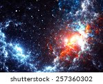 Abstract Cosmic Cloud  Stars O...