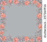 floral background with roses.... | Shutterstock .eps vector #257364916