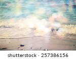 background of blurred beach and ... | Shutterstock . vector #257386156