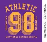 sport athletic new york... | Shutterstock .eps vector #257398666