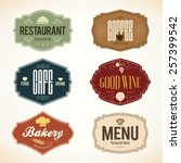label and logo set for... | Shutterstock .eps vector #257399542