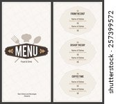 restaurant menu design. vector... | Shutterstock .eps vector #257399572