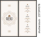restaurant menu design. vector... | Shutterstock .eps vector #257399578