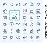 Outline Web Icons Set   Contac...