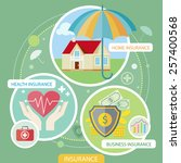 insurance icons set concepts of ...   Shutterstock .eps vector #257400568
