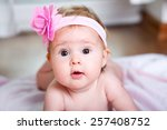 Portrait Of Adorable Baby Girl