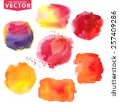 watercolor hand painting ... | Shutterstock .eps vector #257409286