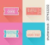 a set of festival themed...   Shutterstock .eps vector #257412232