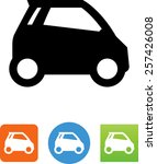 side view of a smart car icon | Shutterstock .eps vector #257426008