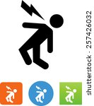person being injured by... | Shutterstock .eps vector #257426032