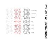 line style multipurpose...   Shutterstock .eps vector #257434462