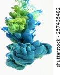 color drop in water ... | Shutterstock . vector #257435482