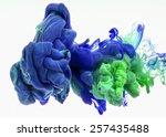 color drop in water ...   Shutterstock . vector #257435488