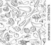 food ingredient seamless... | Shutterstock .eps vector #257436676