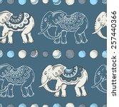 seamless hand drawn pattern... | Shutterstock .eps vector #257440366
