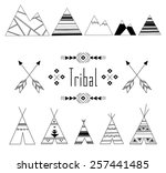 hand drawn ethnic set with...
