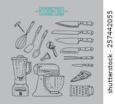 kitchen vintage tools | Shutterstock .eps vector #257442055