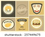 fast food design elements | Shutterstock .eps vector #257449675