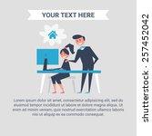 man and woman. vector...   Shutterstock .eps vector #257452042